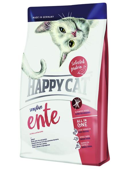 HAPPY CAT Katzentrockenfutter »Sensitive «, Ente, 4 kg