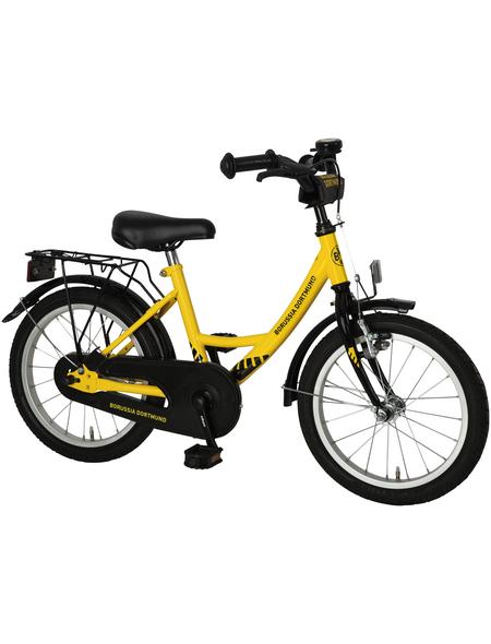 BACHTENKIRCH Kinderfahrrad »Fanbike«, 1 Gang, Wave-Type Rahmen, Gelb-Schwarz
