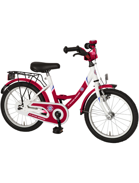 BACHTENKIRCH Kinderfahrrad »Fanbike«, 1 Gang, Wave-Type Rahmen, Weiß-Rot