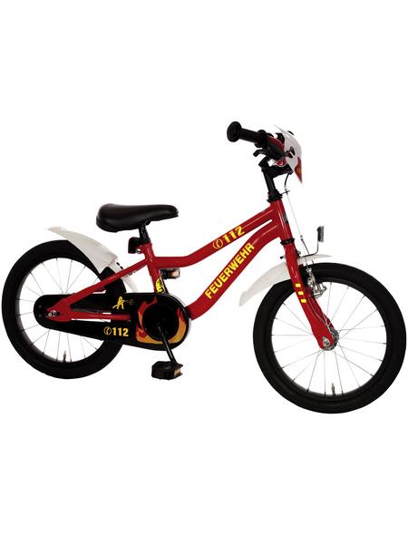 BACHTENKIRCH Kinderfahrrad »Feuerwehr«, 1 Gang, Kuma-Type Rahmen, Rot-Weiß-Neongelb