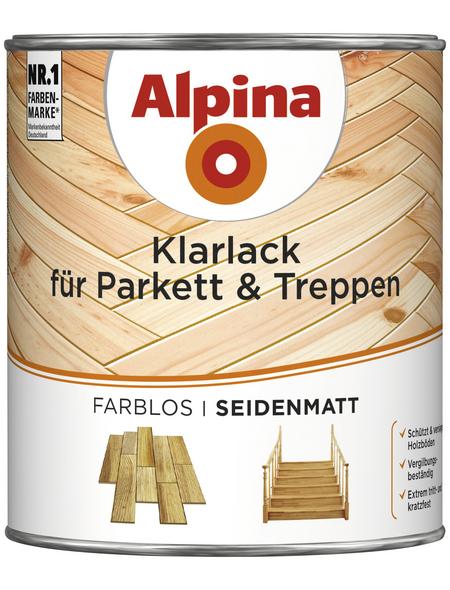 alpina Klarlack, für innen, 0,75 l, farblos, seidenmatt
