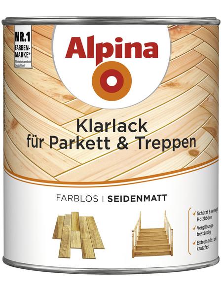 alpina Klarlack, für innen, 2 l, farblos, seidenmatt
