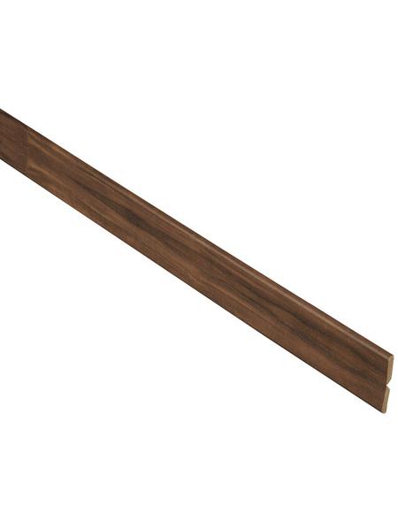 FN NEUHOFER HOLZ Knickwinkelleiste, Nussbaum braun, MDF, LxHxT: 240 x 2,2 x 0,5 cm