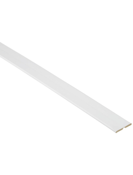FN NEUHOFER HOLZ Knickwinkelleiste, Uni weiß, MDF, LxHxT: 240 x 2,2 x 0,5 cm