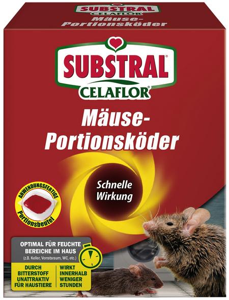 Köder, CF Mäuse-Portionsköder Alpha P, 200 g Verpackung, Mäusen