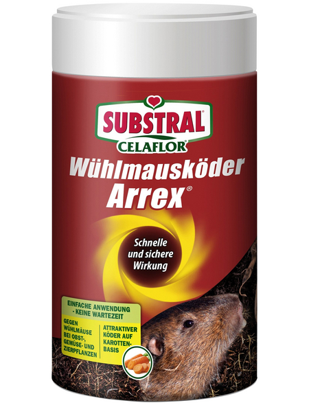 Köder, CF Wühlmausköder Arrex , 250 g Verpackung, Wühlmäusen | Maulwürfen