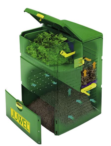 JUWEL Komposter, AEROPLUS, Kunststoff, Grün