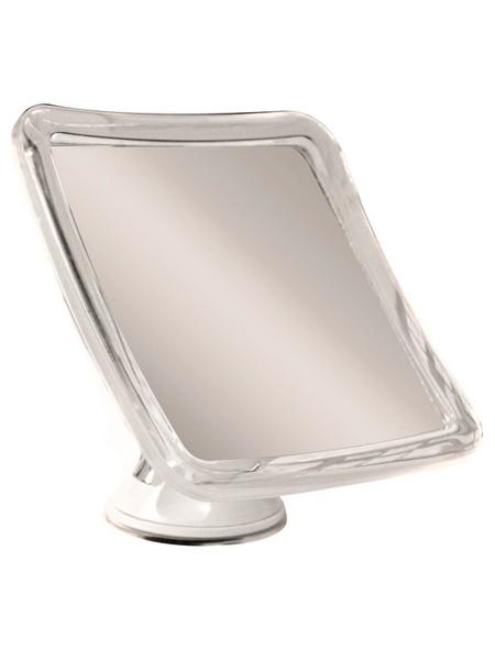 KRISTALLFORM Kosmetikspiegel, quadratisch, BxH: 16 x 16 cm, weiß