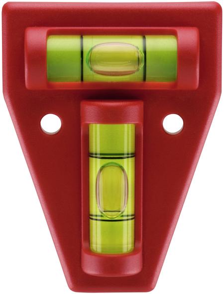 CONNEX Kreuzwasserwaage, Länge: 12 cm, rot