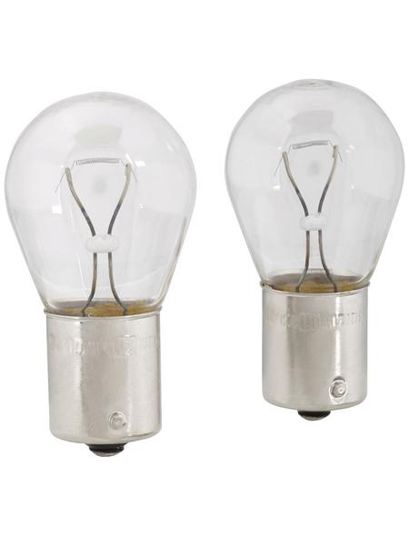 PHILIPS Kugellampe, P21W, BA15s, 21 W, 2 Stück