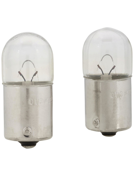 PHILIPS Kugellampe, R10W, BA15s, 10 W, 2 Stück