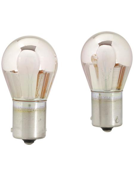 PHILIPS Kugellampe, SilverVision, PY21W, BAU15s, 21 W, 2 Stück