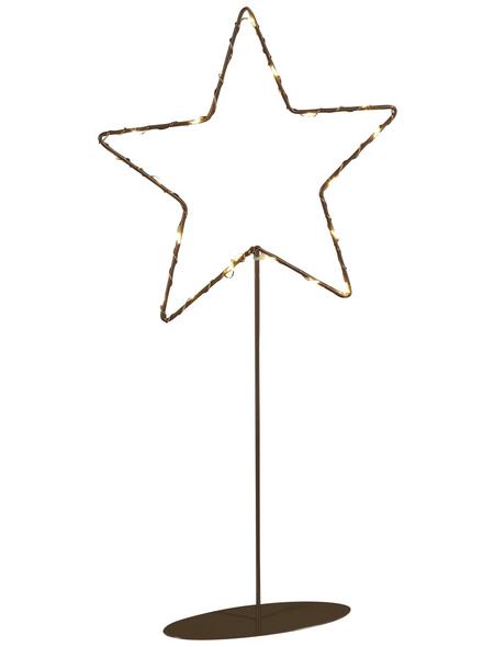 KONSTSMIDE LED-Dekoleuchte, sternförmig, Höhe: 40 cm, Batteriebetrieb