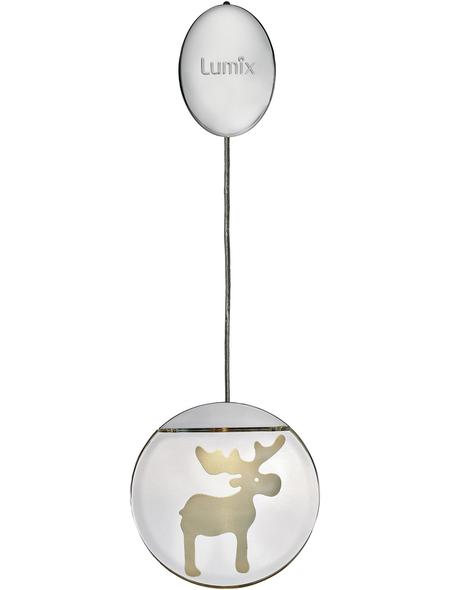 Krinner LED-Fensterbild »Lumix Deco Lights«, Elch, rund, ø: 10 cm, Batteriebetrieb