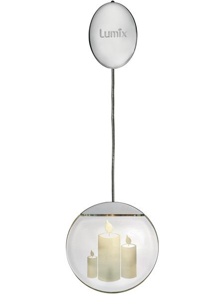 Krinner LED-Fensterbild »Lumix Deco Lights«, Kerzen, rund, ø: 10 cm, Batteriebetrieb