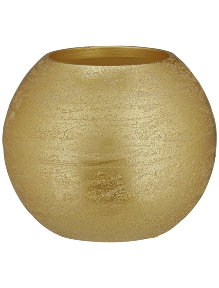 CASAYA LED-Kerze »Rustic«, Ø 12 cm, goldfarben, 3D-Flacker-Effekt, Timer