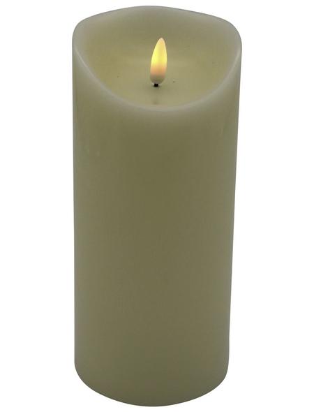 CASAYA LED-Kerze »Rustic«, Ø 9 cm, creme, Timer
