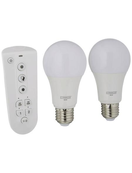 SCHWAIGER LED-Leuchtmittel »HOME4YOU«, 9 W, E27, warmweiß/tageslichtweiß/neutralweiß