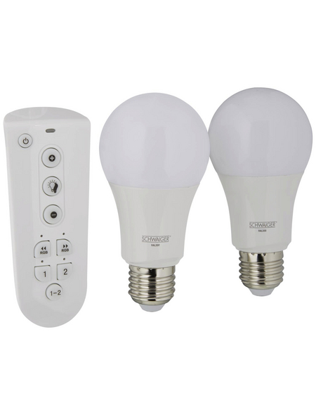 SCHWAIGER LED-Leuchtmittel »HOME4YOU«, 9,5 W, E27, 2700 – 6500 K, mehrfarbig, 806 lm