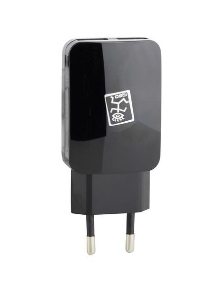 2GO Netzladegerät, Schwarz, 2x USB-Buchse