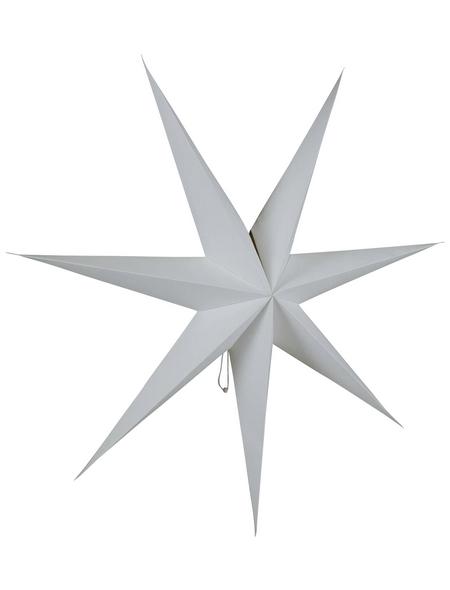 KONSTSMIDE Papierstern, Höhe: 78 cm, Netzbetrieb