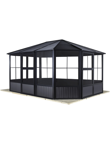 SOJAG Pavillon »Charleston«, Ovaldach, oval, BxHxT: 489 x 281 x 384 cm