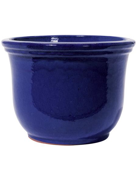 Kirschke Pflanzgefäß »Lage«, ØxH: 25 x 20 cm, blau