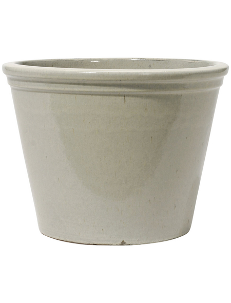Kirschke Pflanzgefäß »Lemgo«, ØxH: 25 x 20 cm, creme