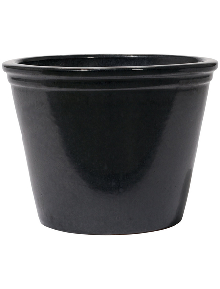 Kirschke Pflanzgefäß »Lemgo«, ØxH: 25 x 20 cm, graphitfarben