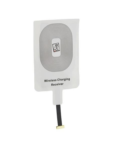2GO QI-Empfänger, Weiß   Schwarz, Micro-USB-Stecker