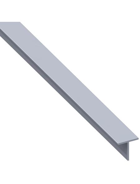 alfer® aluminium Quadrat-T-Profil combitech® Alu silber 1000 x 7,5 x 7,5 x 1 mm