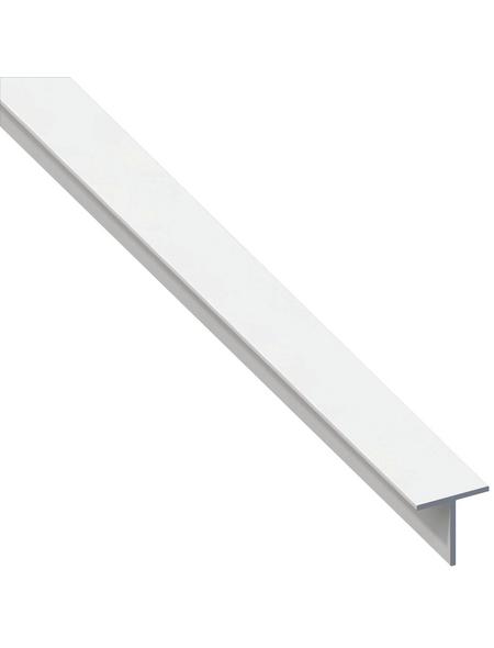 alfer® aluminium Quadrat-T-Profil combitech® PVC weiß 2500 x 19,5 x 19,5 x 1,5 mm