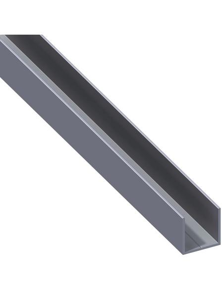 alfer® aluminium Quadrat-U-Profil, Combitech®, LxBxH: 1000 x 15,5 x 15,5 mm, Aluminium