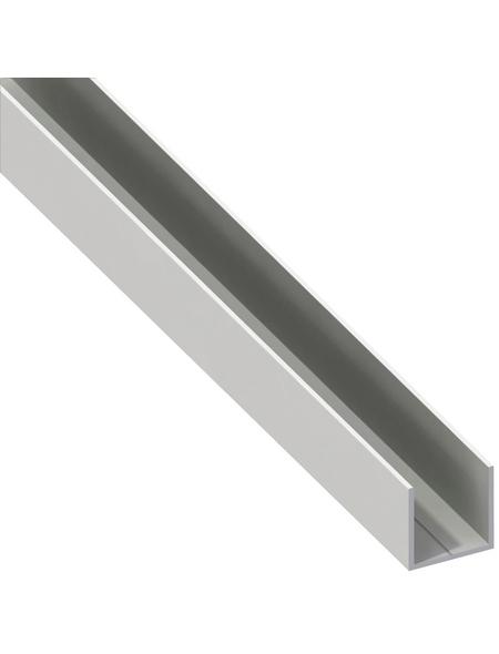 alfer® aluminium Quadrat-U-Profil, Combitech®, LxBxH: 2500 x 15,5 x 15,5 mm, Polyvinylchlorid (PVC)