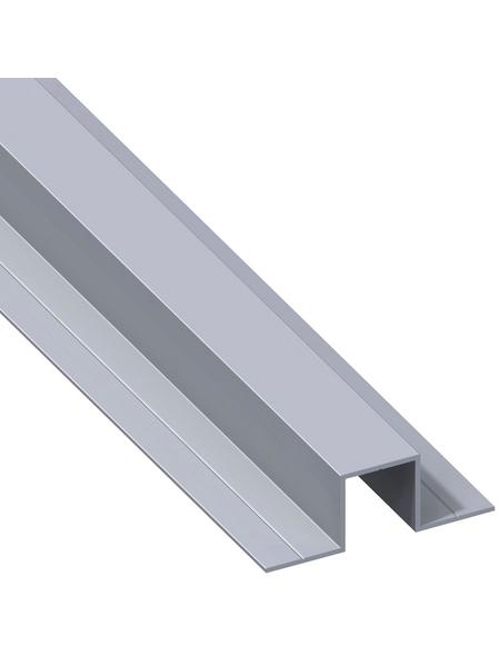 alfer® aluminium Quadrat-U-Profil, LxBxH: 1000 x 31,5 x 11,5 mm, Aluminium