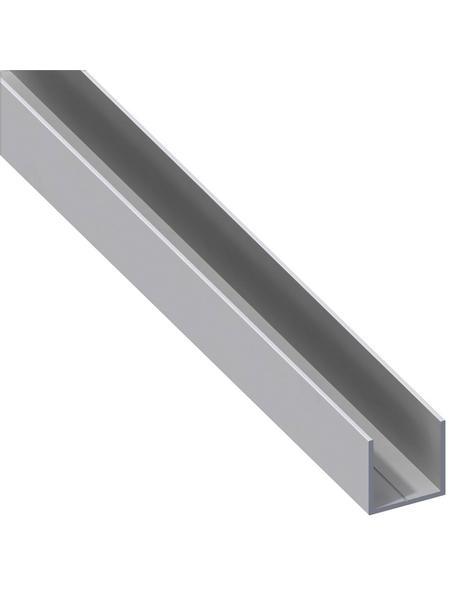 alfer® aluminium Quadrat-U-Profil, LxBxH: 2500 x 23,5 x 23,5 mm, Aluminium