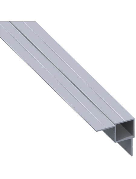 alfer® aluminium Quadratrohr combitech® Alu silber 1000 x 14 x 7,5 x 1 mm
