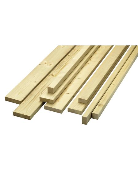 KLENK HOLZ Rahmenholz, Fichte / Tanne, BxH: 7,4 x 7,4 cm, glatt