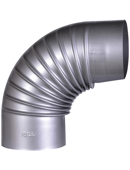 FIREFIX® Rauchrohrbogen, Ø: 13 cm, Stärke: 0,6 mm, Stahl