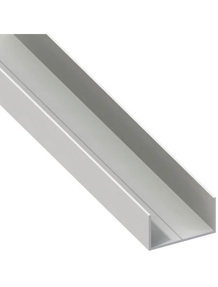 alfer® aluminium Rechteck-U-Profil, Combitech®, LxBxH: 2500 x 19,5 x 11,5 mm, Polyvinylchlorid (PVC)