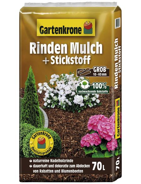 GARTENKRONE Rindenmulch, 70 l, natur