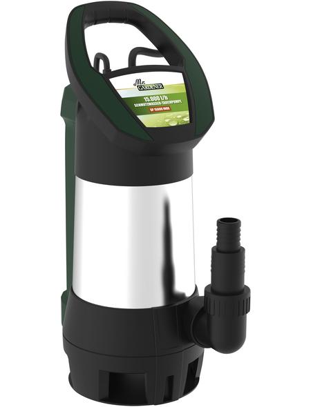 MR. GARDENER Schmutzwasser-Tauchpumpe, 750 W, Fördermenge: 15000 l/h