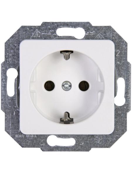 KOPP Schutzkontakt-Steckdose »EUROPA«, weiß, Kunststoff