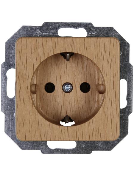 KOPP Schutzkontakt-Steckdose »MILANO«, braun, Holz