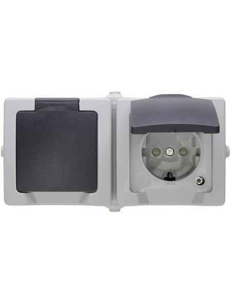 KOPP Schutzkontakt-Steckdose »NAUTIC«, grau, Kunststoff, 250V