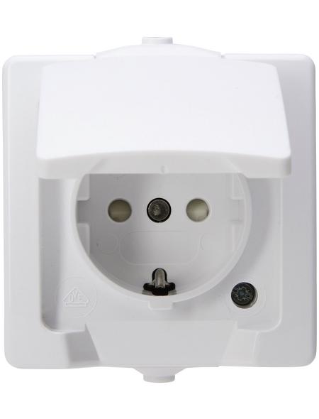 KOPP Schutzkontakt-Steckdose »NAUTIC«, polarweiß, Kunststoff, 250V