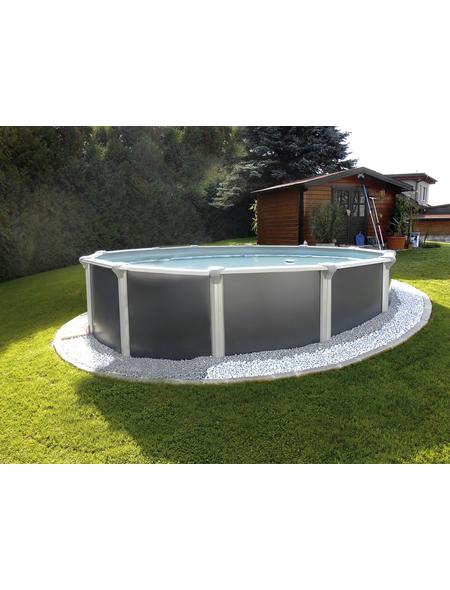 KWAD Schwimmbecken »Steely Supreme Design «, grau, ØxH: 550 x 132 cm