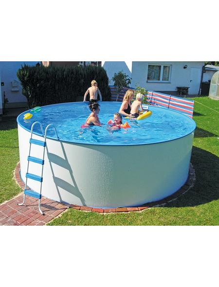 KWAD Schwimmbecken »Steely «, weiß, ØxH: 350 x 120 cm