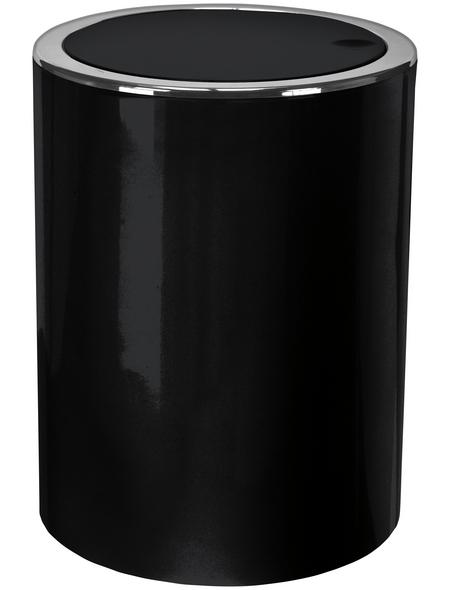 KLEINE WOLKE Schwingdeckeleimer »Clap«, Höhe: 24,5 cm, schwarz