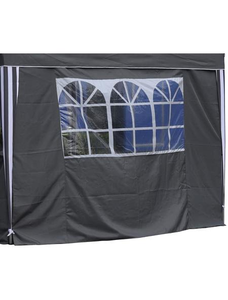 BELLAVISTA Seitenteile, grau, Breite: 290 cm, Polyester, mit Fenster